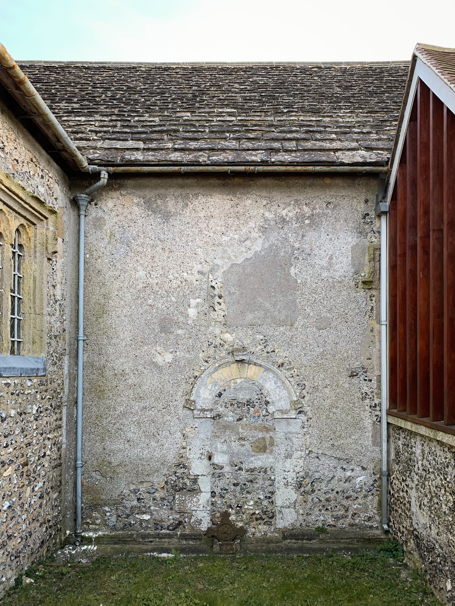 Doorway in the church nave blocked in the late 12th century