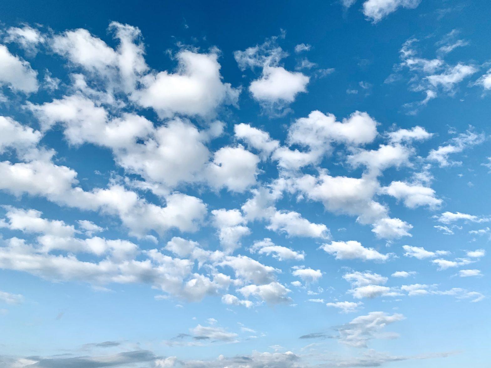 Altocumulus floccus cloud formation
